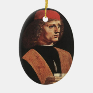 Portrait of a Musician Christmas Ornament