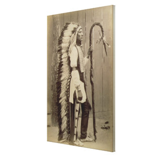 Portrait of a Native American from 'Buffalo Bill's Canvas Print