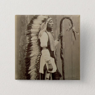 Portrait of a Native American from 'Buffalo Bill's Pinback Button