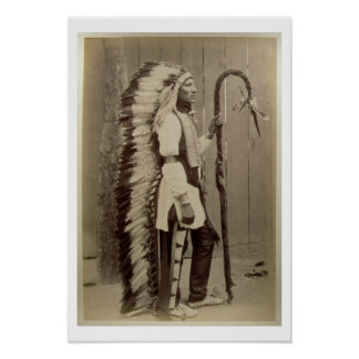 Portrait of a Native American from 'Buffalo Bill's Poster