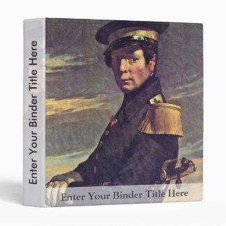 Portrait Of A Naval Officer By Millet  (Best Quali Vinyl Binder