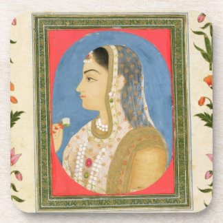 Portrait of a noble lady, from the Small Clive Alb Drink Coaster