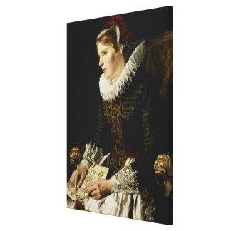 Portrait of a Noble Woman Stretched Canvas Prints