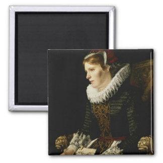 Portrait of a Noble Woman Fridge Magnets