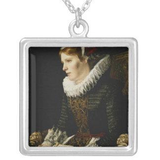 Portrait of a Noble Woman Custom Necklace