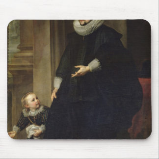 Portrait of a Nobleman and his Child Mouse Pad
