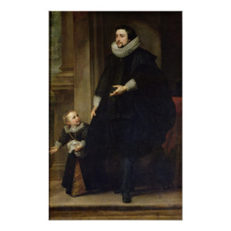 Portrait of a Nobleman and his Child Print