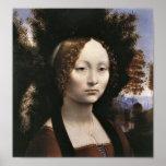 Portrait of a noblewoman by Leonardo da Vinci Posters