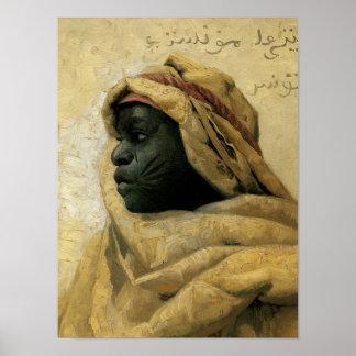 Portrait of a Nubian Poster
