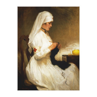 Portrait of a Nurse from the Red Cross Gallery Wrap Canvas