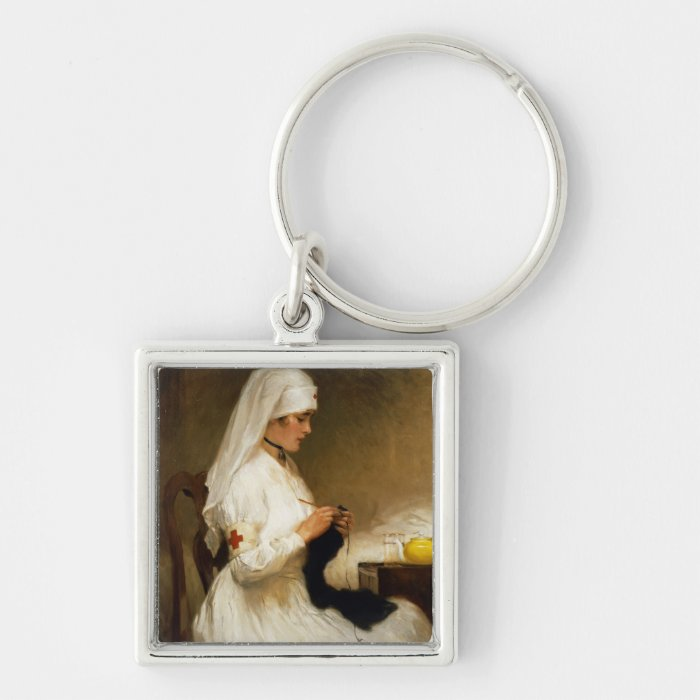 Portrait of a Nurse from the Red Cross Keychain
