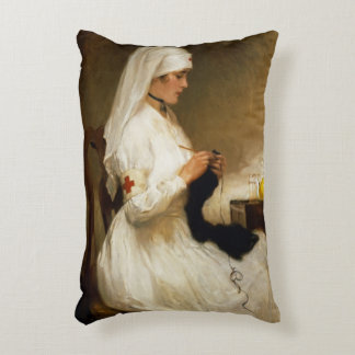 Portrait of a Nurse from the Red Cross Accent Pillow