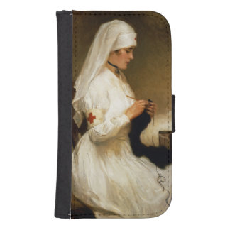 Portrait of a Nurse from the Red Cross Galaxy S4 Wallet Cases