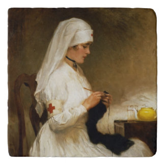 Portrait of a Nurse from the Red Cross Trivets