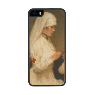 Portrait of a Nurse from the Red Cross Carved® Maple iPhone 5 Slim Case