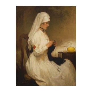 Portrait of a Nurse from the Red Cross Wood Canvases