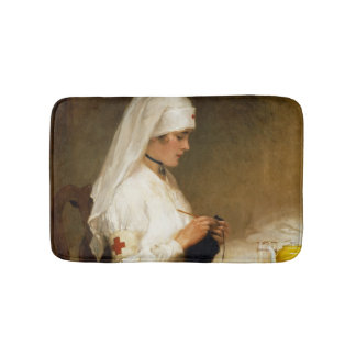 Portrait of a Nurse from the Red Cross Bath Mats