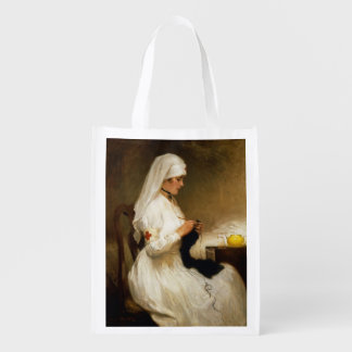 Portrait of a Nurse from the Red Cross Grocery Bag