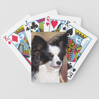 Portrait Of A Papillon Sitting In The Wind Bicycle Playing Cards