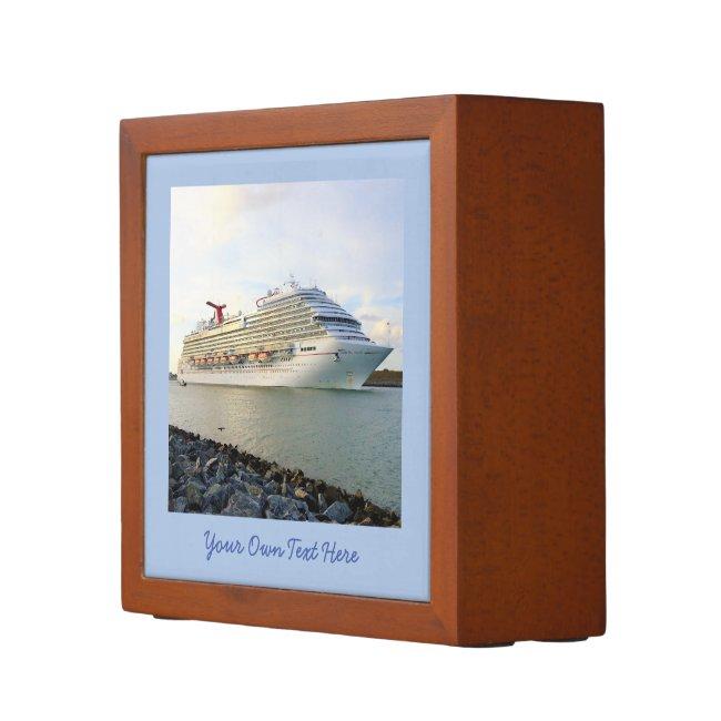Portrait of a Passing Cruise Ship Custom