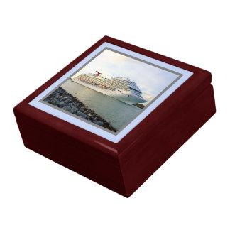 Portrait of a Passing Cruise Ship Keepsake Box
