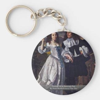 Portrait Of A Patrician Pair Key Chains
