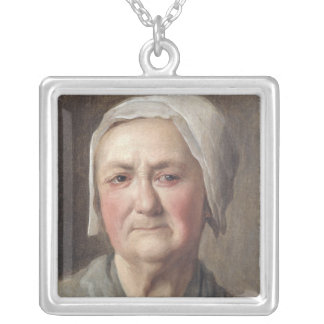Portrait of a Peasant Silver Plated Necklace