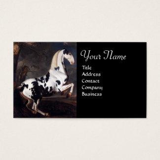 Portrait of a Piebald Monogram Business Card