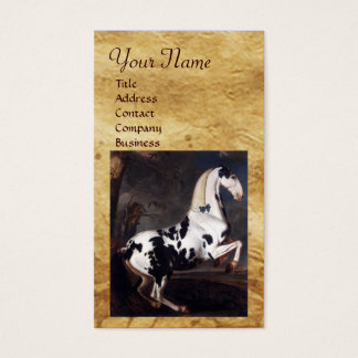 Portrait of a Piebald ,Parchment Monogram Business Card