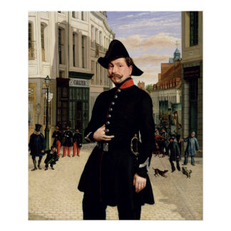 Portrait of a Police Officer in Douai in 1848 Poster