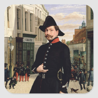 Portrait of a Police Officer in Douai in 1848 Square Sticker