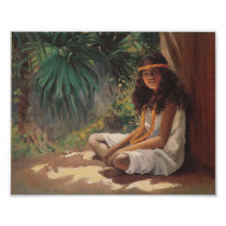 Portrait of a Polynesian Girl - Helen T. Dranga Poster