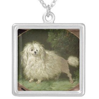 Portrait of a Poodle Square Pendant Necklace