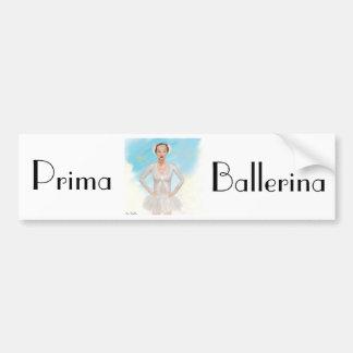 Portrait of a Prima Ballerina - Painting Bumper Sticker