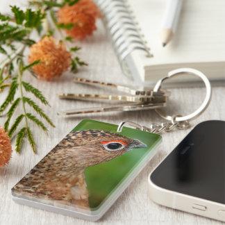 Portrait of a ptarmigan acrylic keychain