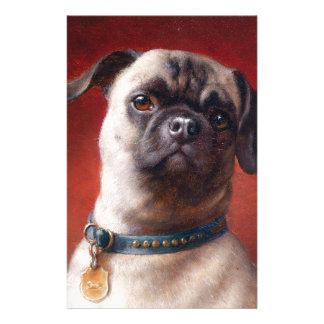 Portrait of a Pug by Carl Reichert Stationery
