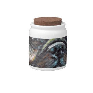 Portrait of a Pug Candy Jar
