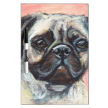 Portrait of a Pug Dry-Erase Whiteboards