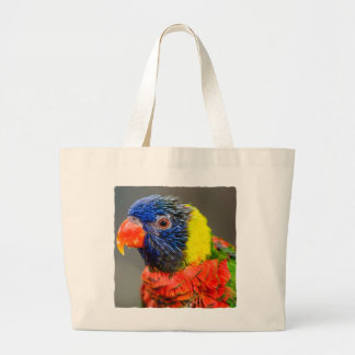 Portrait of a Rainbow Lorikeet Jumbo Tote Bag