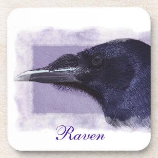 Portrait of a Raven Corvid-lovers Art Design Beverage Coaster