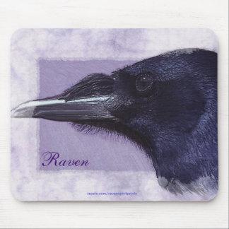 Portrait of a Raven Corvid-lovers Art Design Mouse Pad