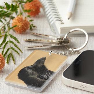 Portrait of a Raven Acrylic Keychains