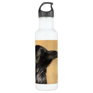 Portrait of a raven water bottle
