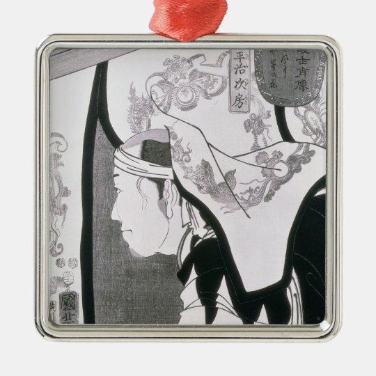 Portrait of a Ronin, from 'Seichin Gushi Shozo' Metal Ornament