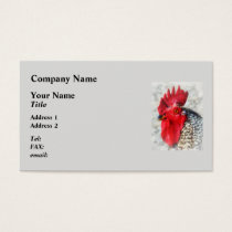 Portrait of a Rooster Business Card