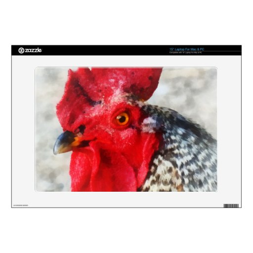Portrait of a Rooster Laptop Decal