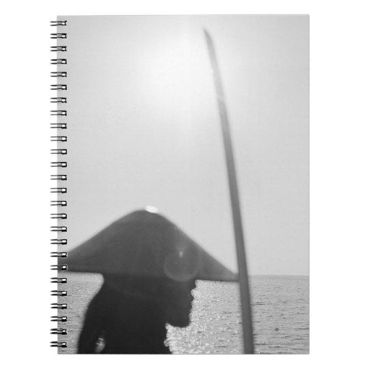 Portrait of a Samurai warrior holding a sword 2 Notebook