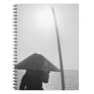 Portrait of a Samurai warrior holding a sword 2 Spiral Notebook
