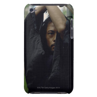 Portrait of a Samurai warrior holding a sword Barely There iPod Case