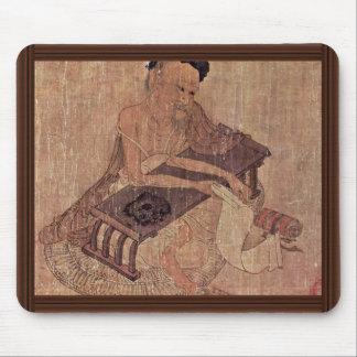 Portrait Of A Scholar Fu Sheng By Wang Wei Mouse Pads